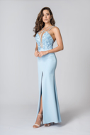 Aluguel Vestido de Fenda Azul Tatuapé Anália Franco Preço Fixo