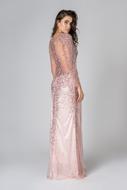 Vestido longo Bordado Pedrarias Rose aluguel