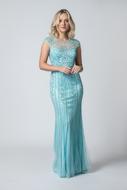 Vestido Bordado Pedrarias azul tiffany aluguel Preço fixo zona leste