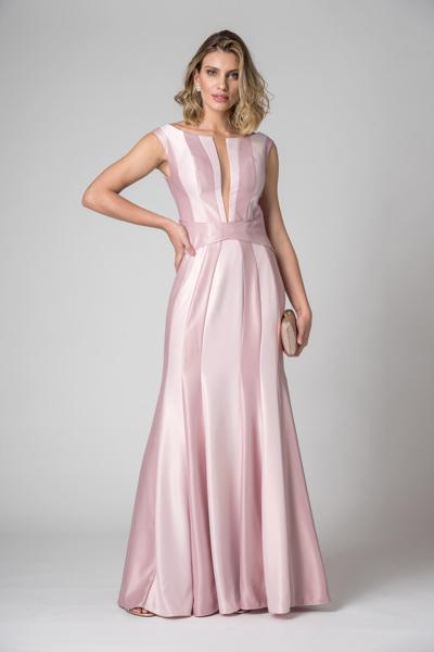 Aluguel Vestido Longo Rose Elegante Tatuapé Anália Franco SP