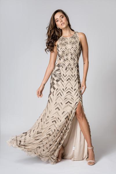 Vestido Bordado Pedrarias Nude aluguel Preço fixo zona leste