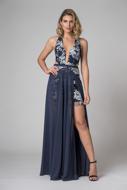 Aluguel Vestido de Fenda Azul Marinho Tatuapé Anália Franco Preço Fixo