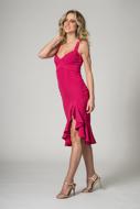 Aluguel Vestido Curto pink fenda SP