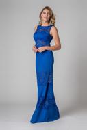 Aluguel Vestido Longo azul renda sp zl