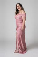 Aluguel Vestido Longo Rosa Plus size sp Tatuapé