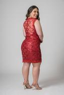 locação vestido curto paete vermelho barato zona leste
