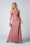 Aluguel vestido longo básico rose SP